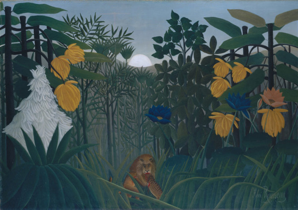 Detail of The Repast of the Lion, c.1907 by Henri J.F. Rousseau