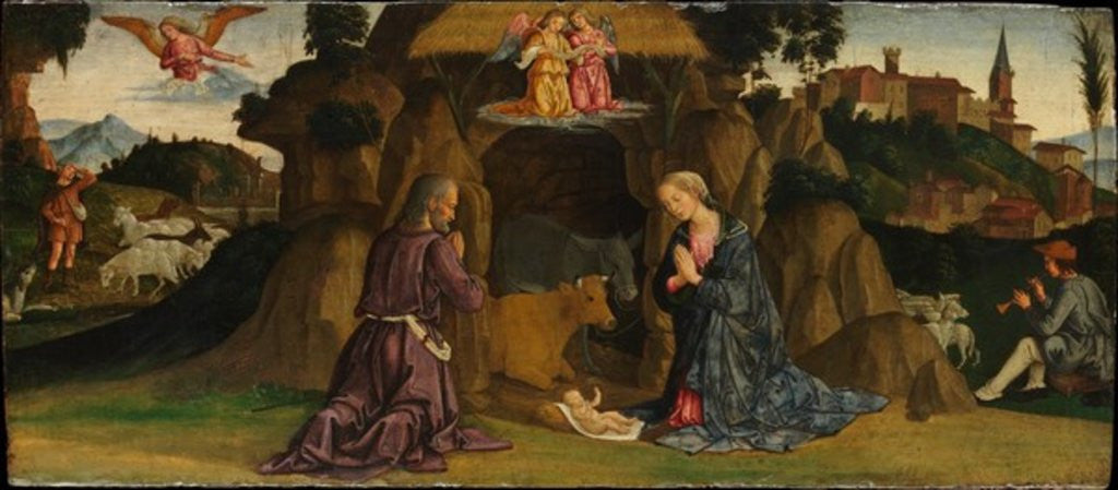 Detail of The Nativity, 1480s by Antoniazzo Romano