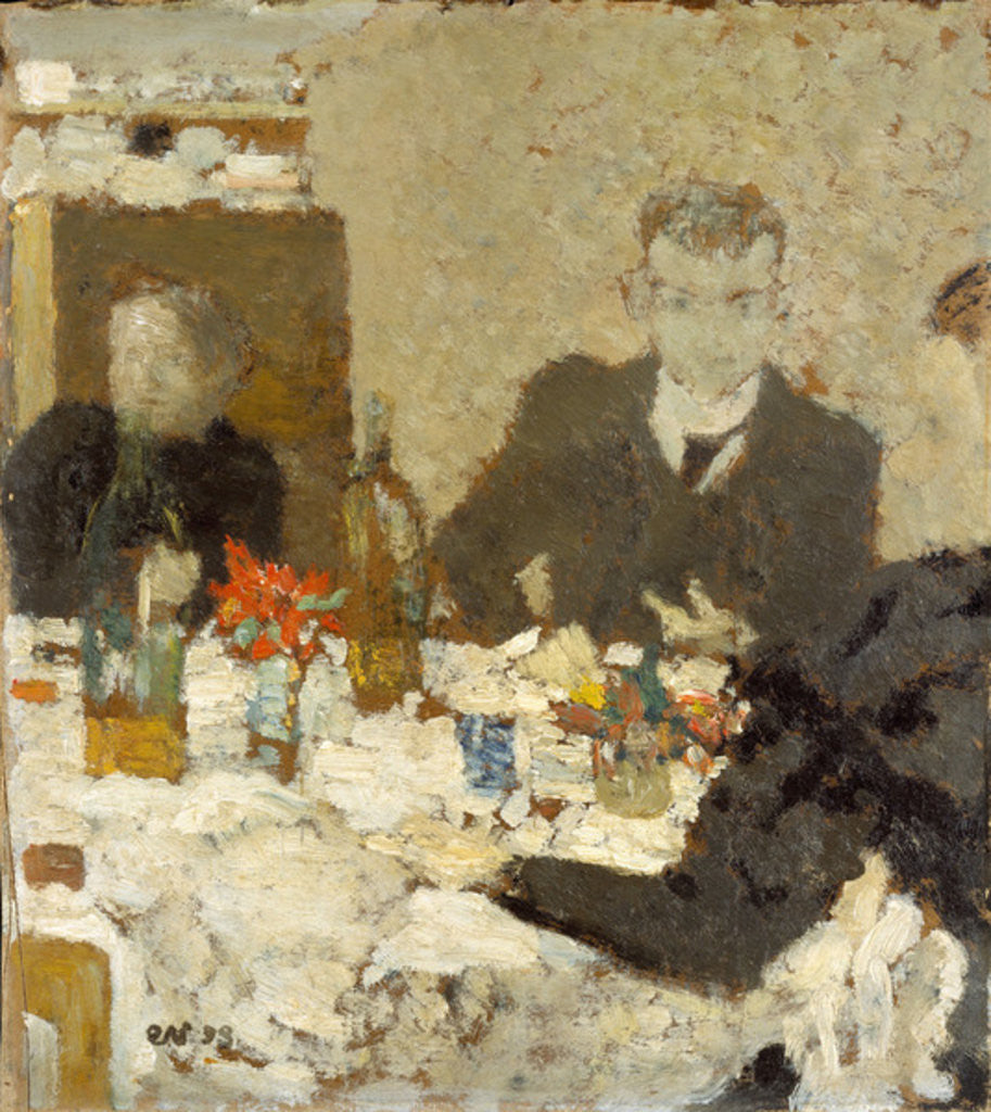 Detail of At Table, 1893 by Edouard Vuillard