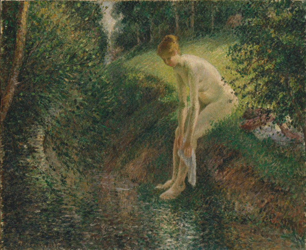 Detail of Bather in the Woods, 1895 by Camille Pissarro