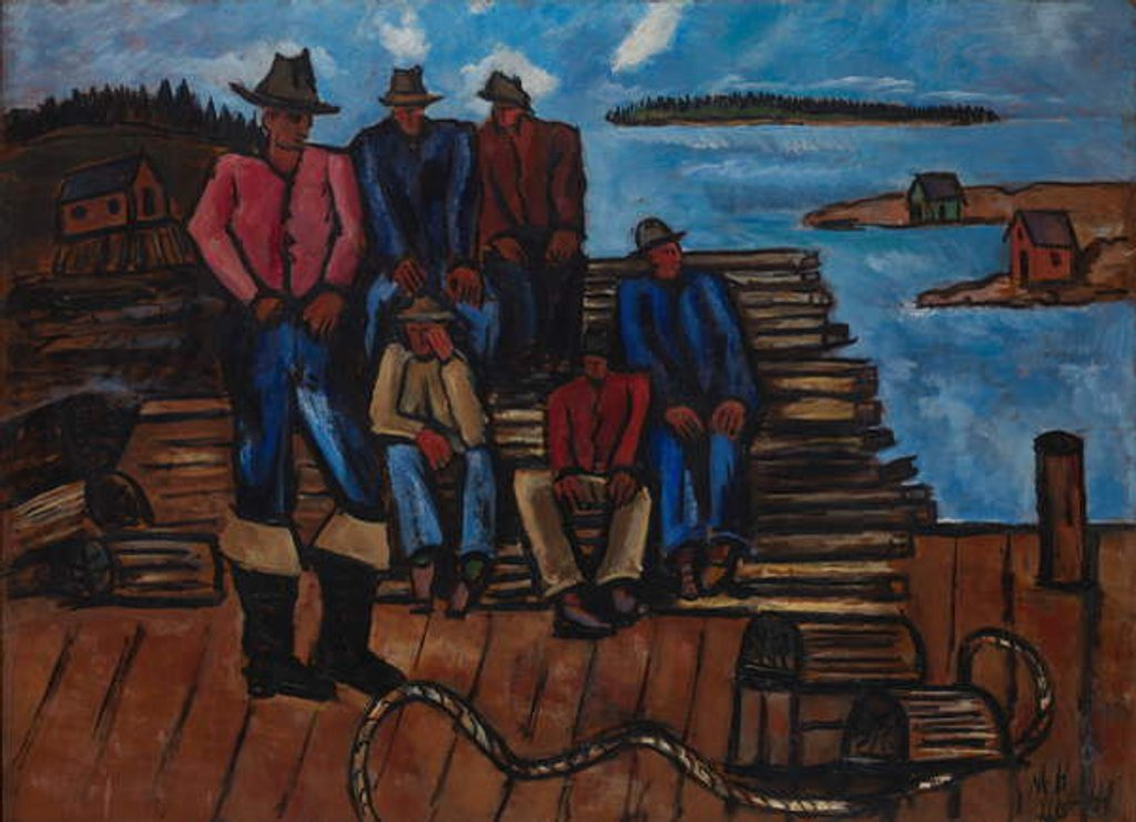 Detail of Lobster Fishermen, 1940-41 by Marsden Hartley