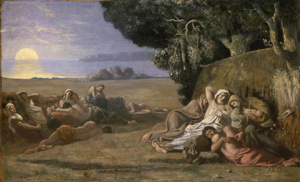 Detail of Sleep, c.1867-70 by Pierre Puvis de Chavannes
