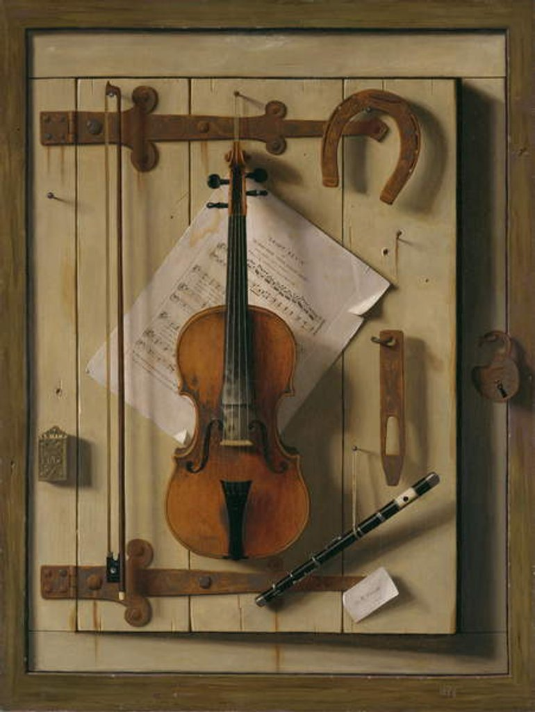 Detail of Still Life, Violin and Music, 1888 by William Michael Harnett