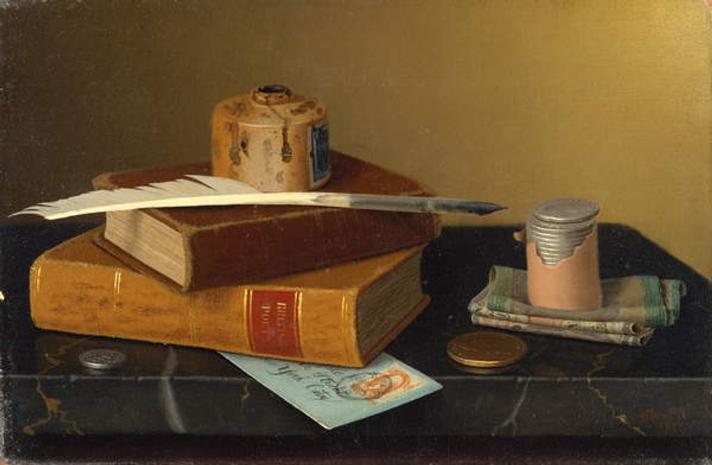 Detail of The Banker's Table, 1877 by William Michael Harnett
