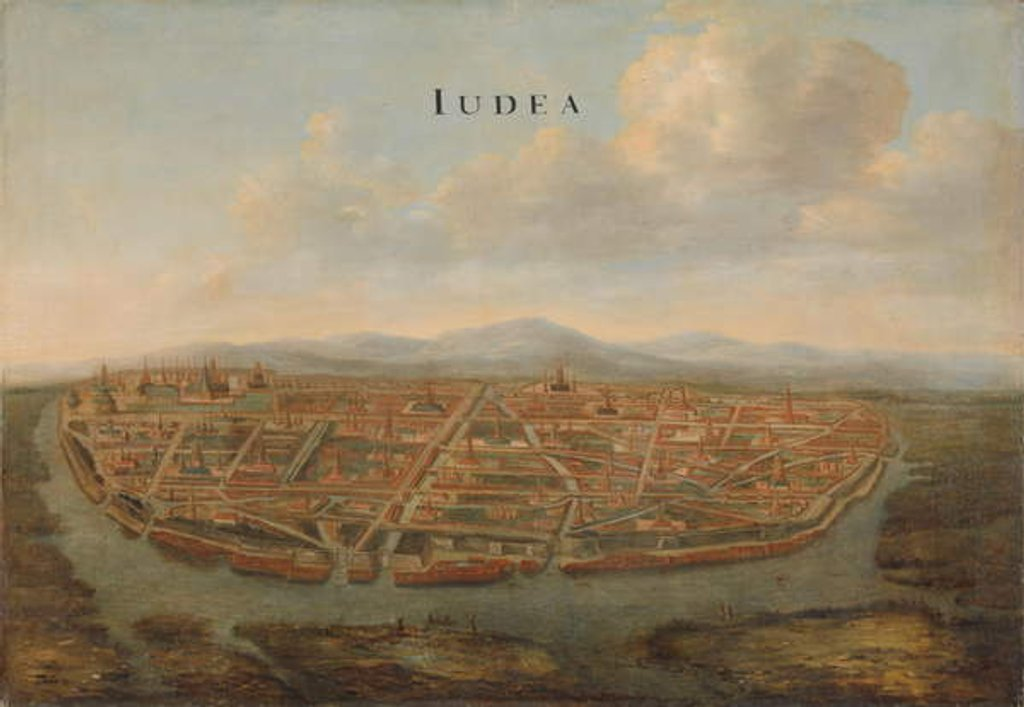 Detail of View of Judea, the capital of Siam, c.1662-3 by Johannes Vinckeboons