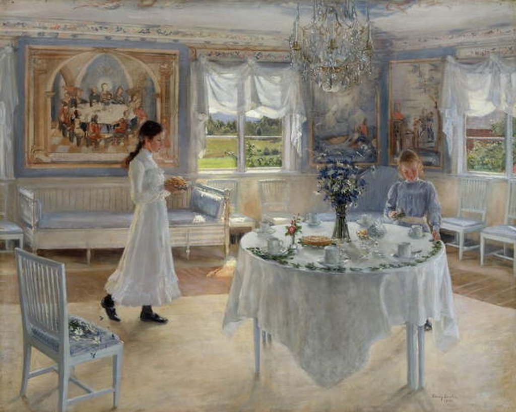 Detail of A Day of Celebration, 1902 by Fanny Brate