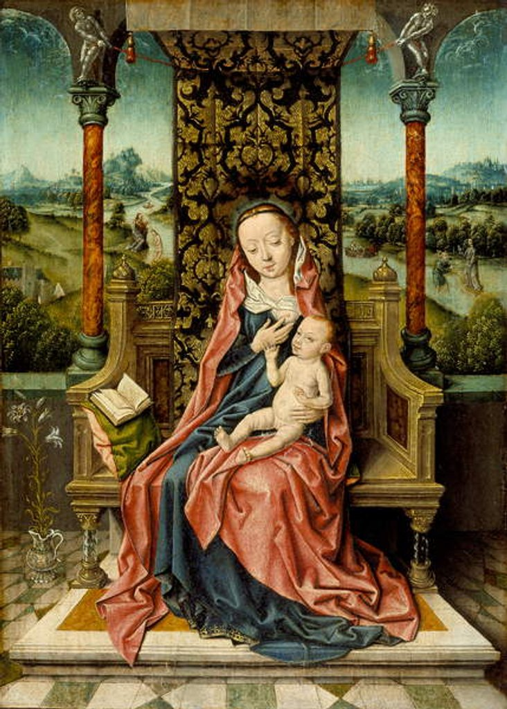 Detail of Madonna and Child Enthroned, c.1510 by Albrecht Bouts