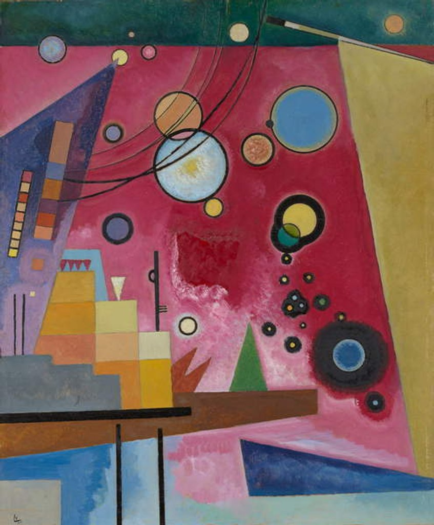 Detail of Heavy Red, 1924 by Wassily Kandinsky