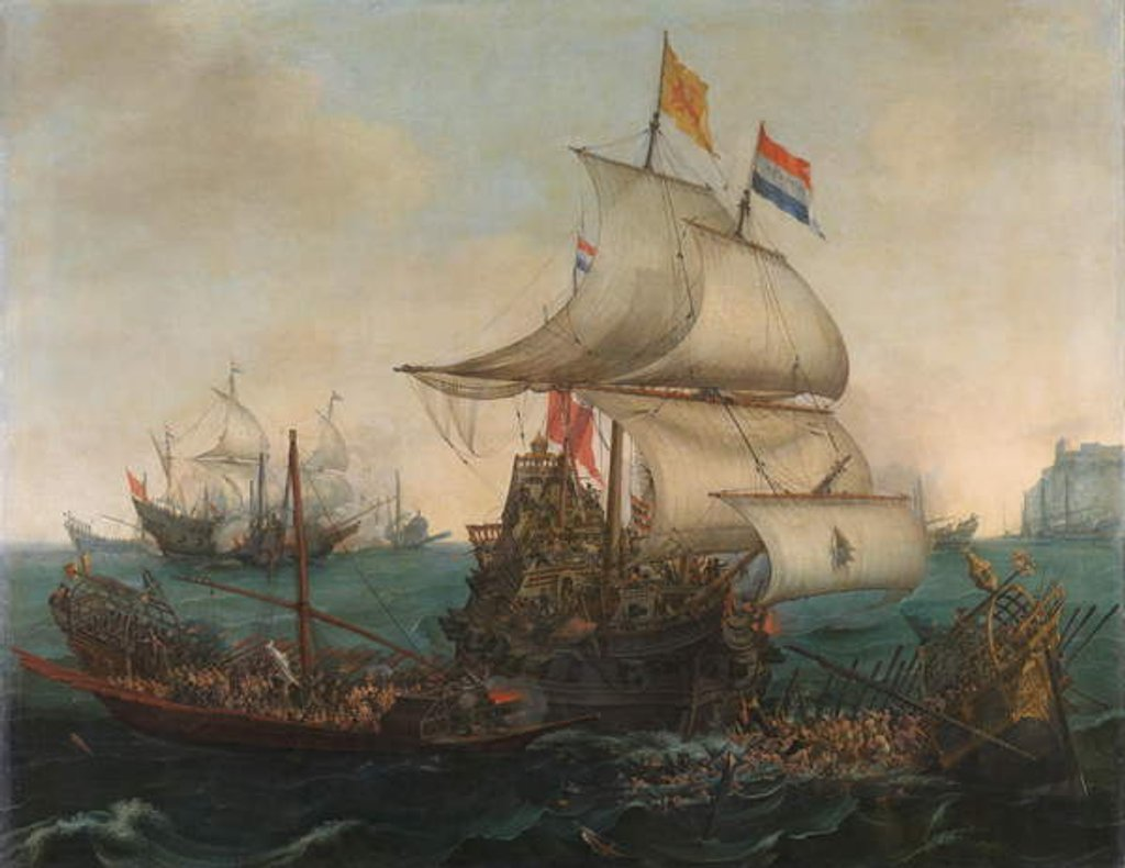 Dutch Ships Ramming Spanish Galleys of the English Coast, 3 October 1602, 1617 by Hendrick Cornelisz. Vroom