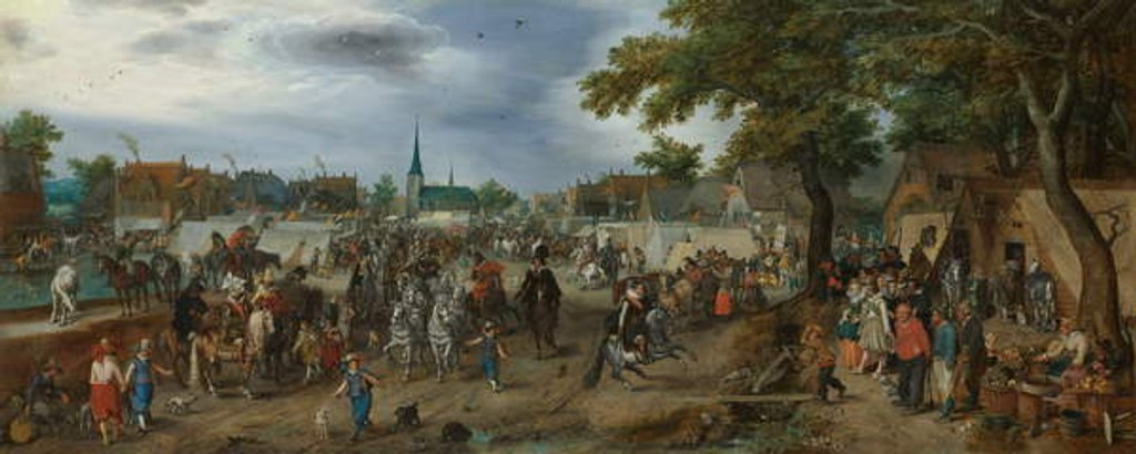 Detail of Prince Maurice and Frederick Henry at the Valkenburg Horse Fair, 1618 by Adriaen Pietersz. van de Venne