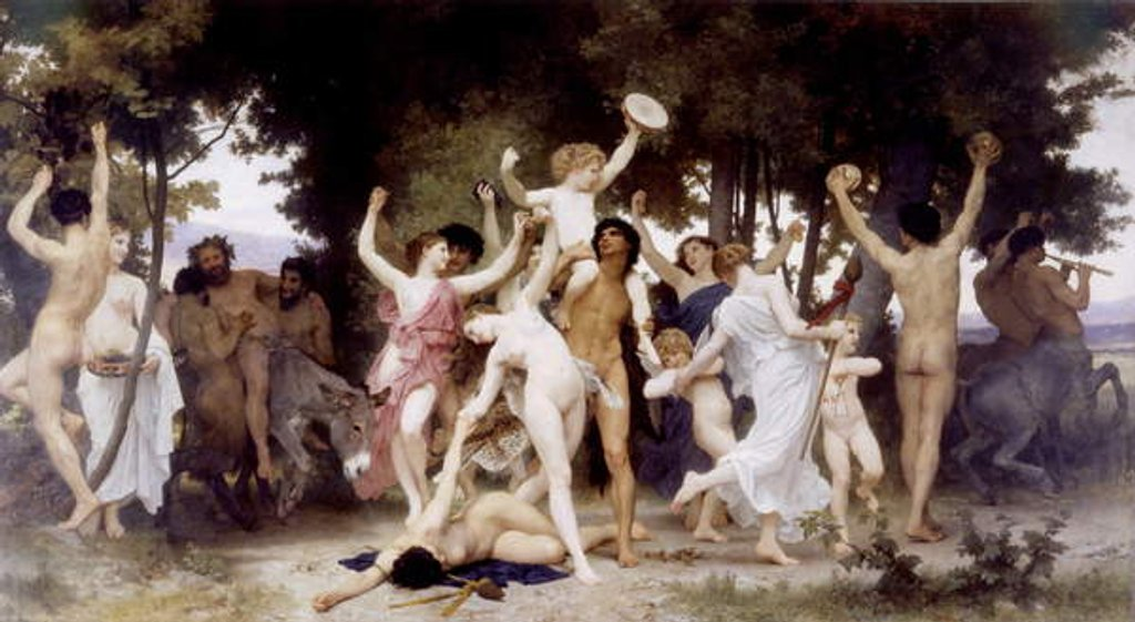 Detail of The Youth of Bacchus, 1884 by William-Adolphe Bouguereau