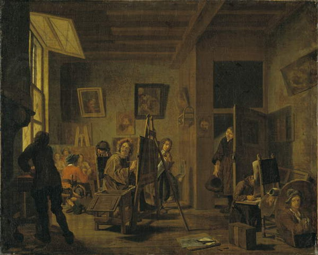 Detail of A Painter's Studio by Jan Josef the Elder Horemans