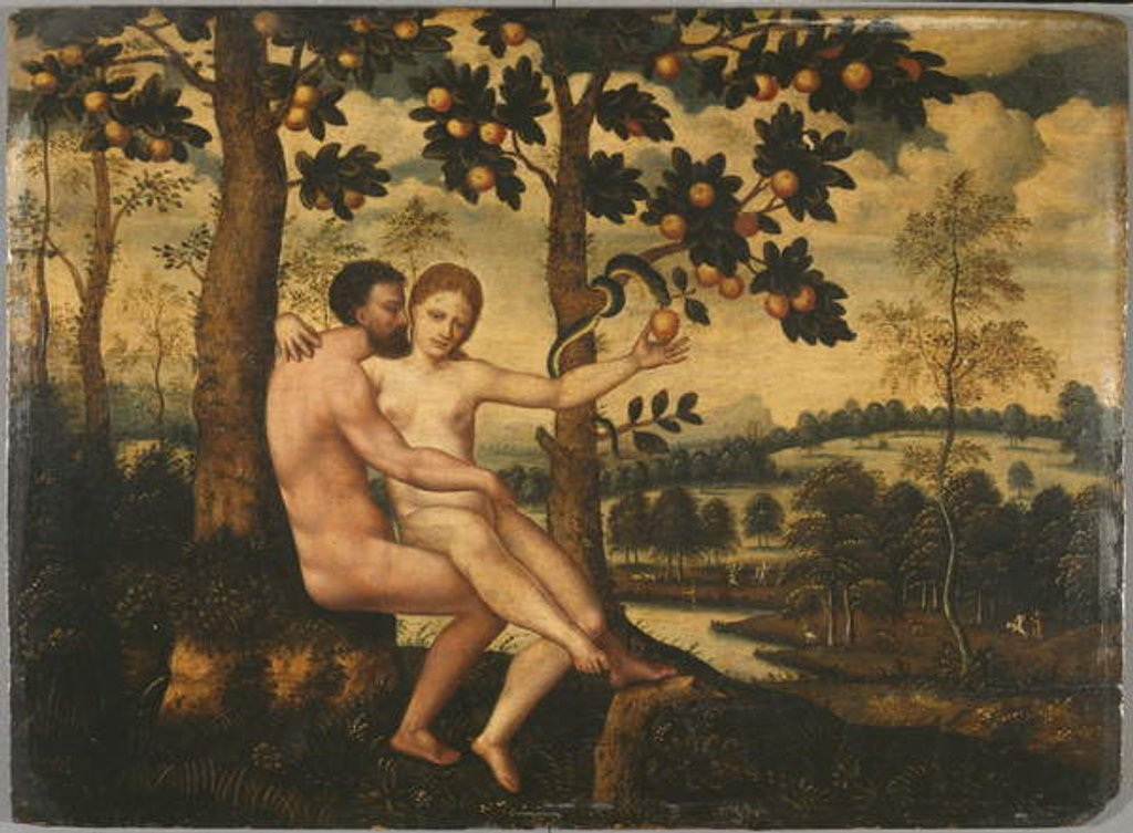 Detail of Adam and Eve by German School