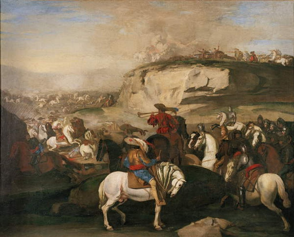 Detail of Battle Scene, c.1630-39 by Aniello Falcone