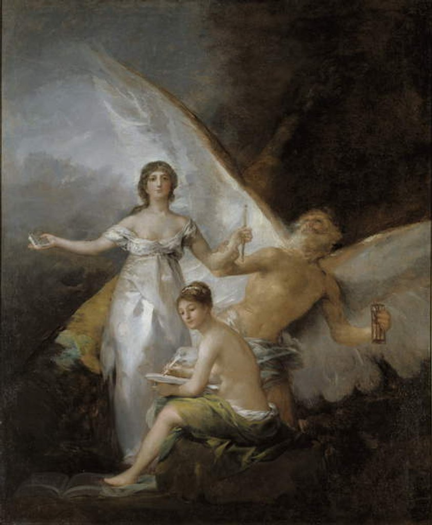 Detail of Truth, Time and History, 1804-08 by Francisco Jose de Goya y Lucientes