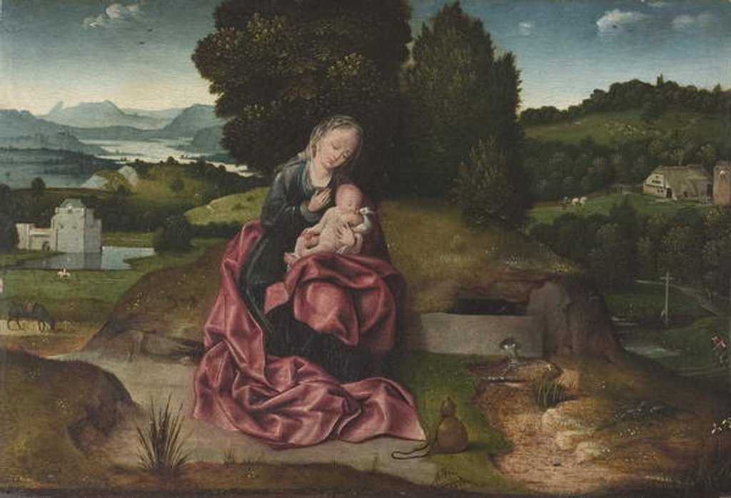 Detail of Virgin and Child Resting during the Flight into Egypt by Joachim Patenier or Patinir