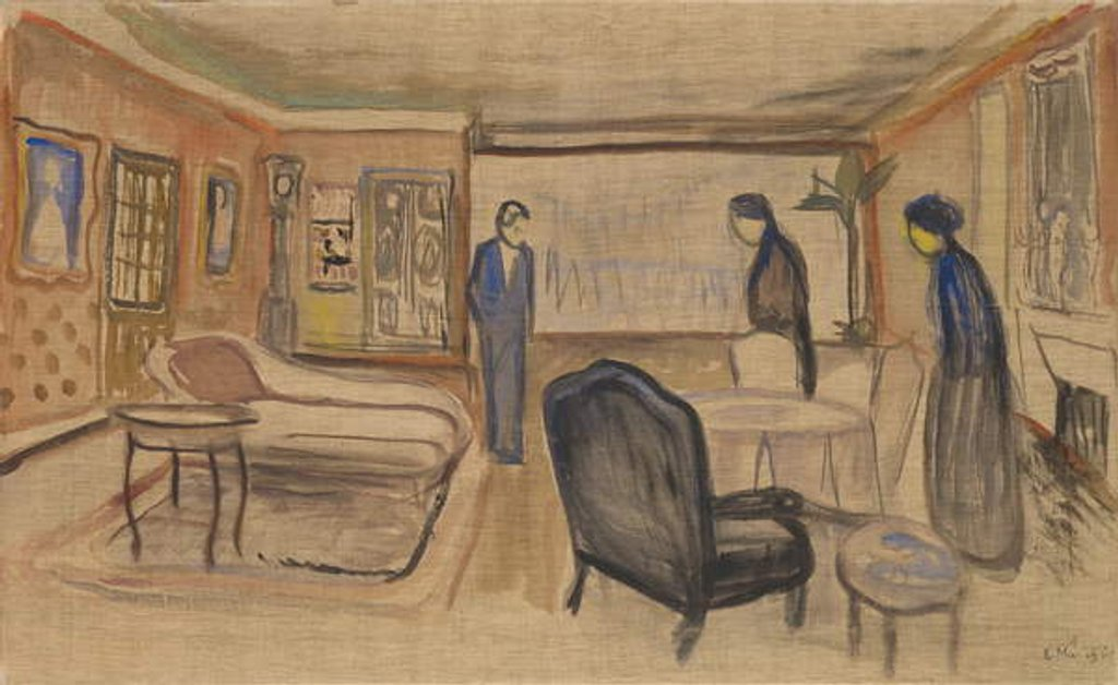 Detail of Scene of Ibsen's Ghosts, 1906 by Edvard Munch