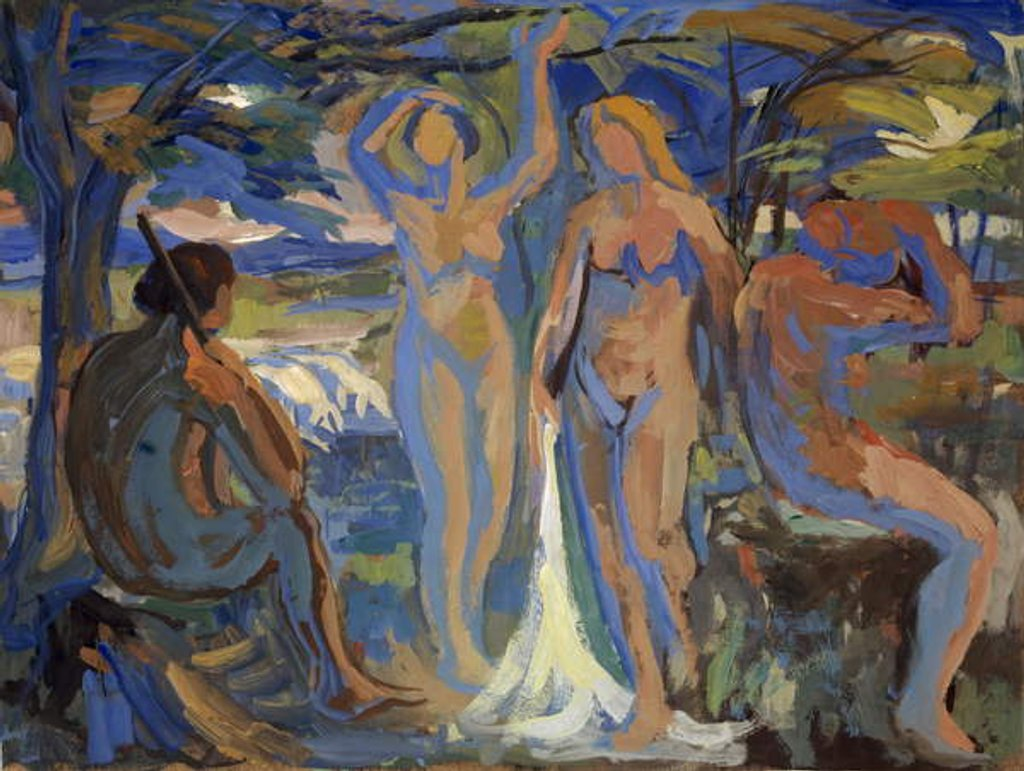 Detail of The Judgement of Paris, c.1913-15 by Paul Altherr