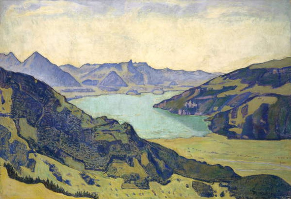 Detail of View of the Lake of Thun from Breitlauenen, 1906 by Ferdinand Hodler