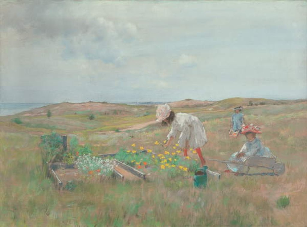 Detail of Gathering Flowers, Shinnecock, Long Island, c.1897 by William Merritt Chase
