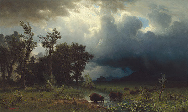 Detail of Buffalo Trail: The Impending Storm by Albert Bierstadt