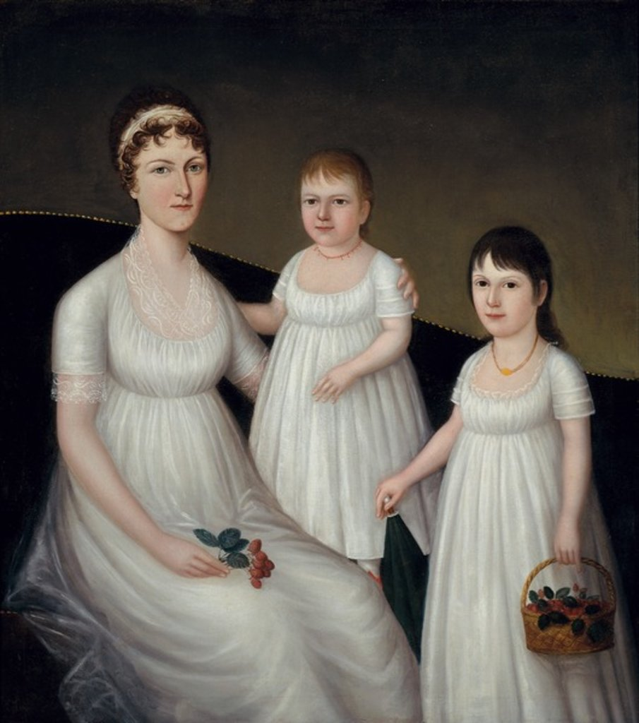 Detail of Grace Allison McCurdy and her Daughters, Mary Jane and Letitia Grace, c.1806 by Joshua Johnson