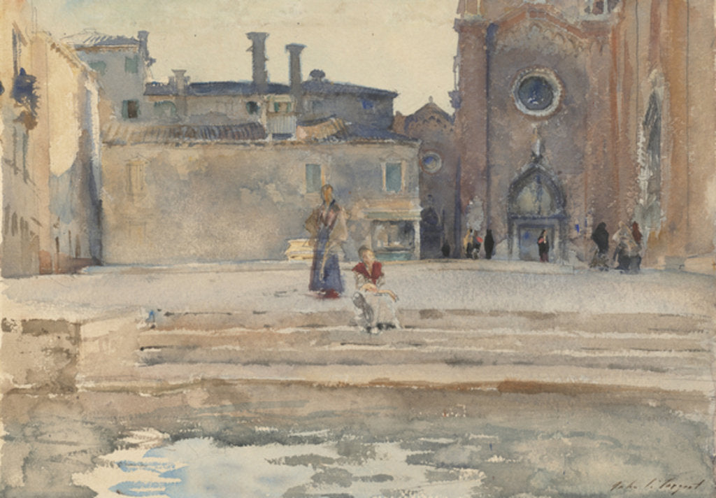 Detail of Campo dei Frari, Venice, 1880-82 by John Singer Sargent