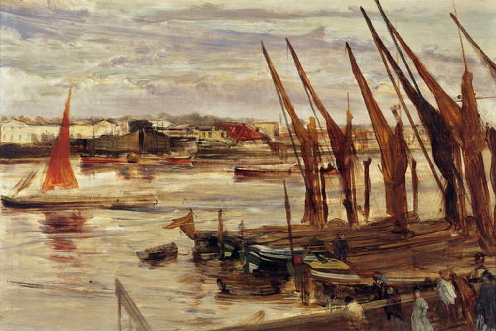 Detail of Battersea Reach, c.1863 by James Abbott McNeill Whistler