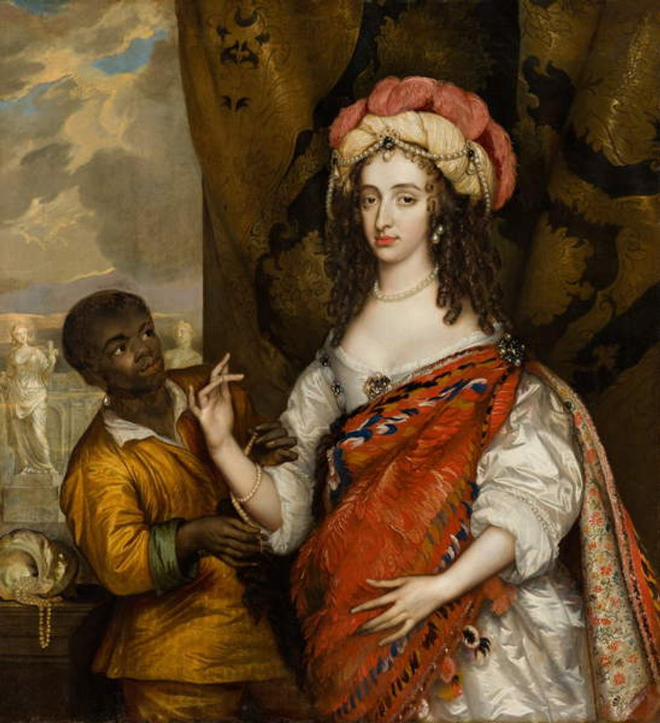 Detail of Posthumous Portrait of Mary Stuart with a Servant, c.1664 by Adriaen Hanneman