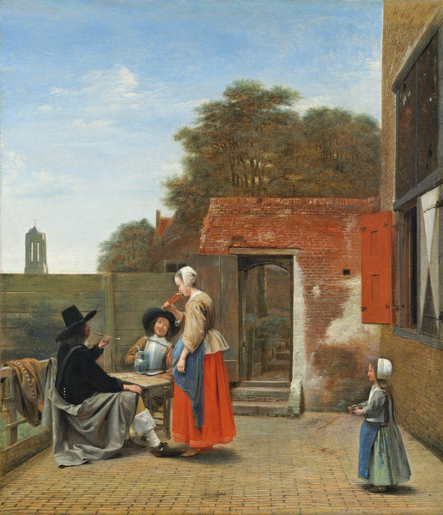 Detail of A Dutch Courtyard by Pieter de Hooch