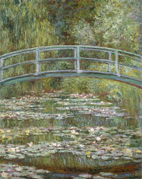 Detail of The Water-Lily Pond by Claude Monet