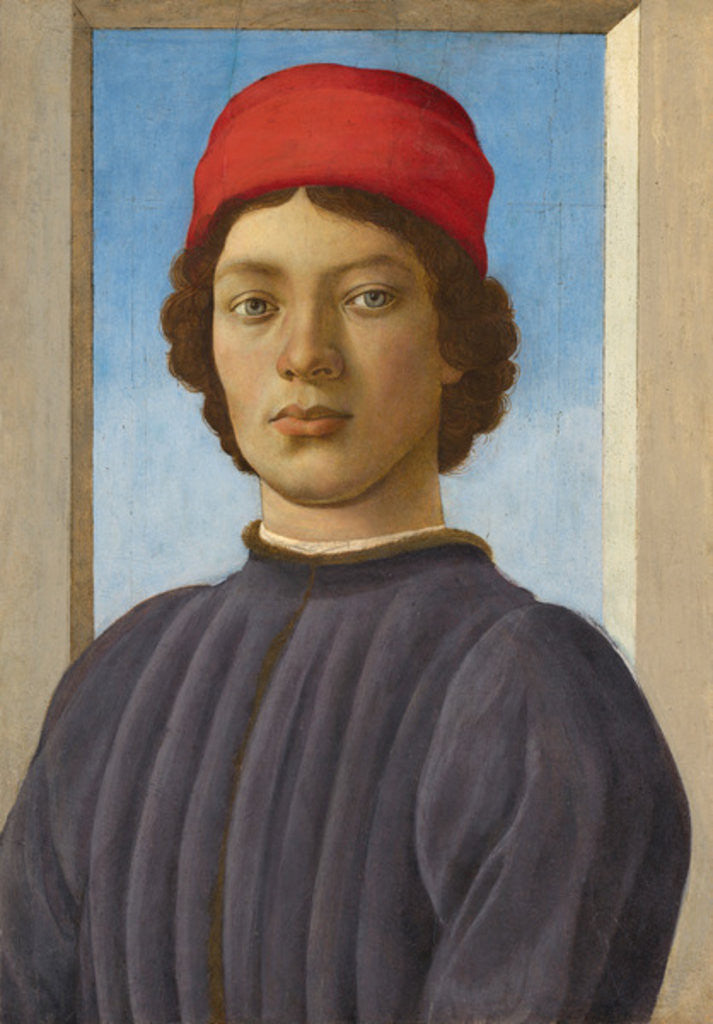 Detail of Portrait of a Youth by Filippino Lippi