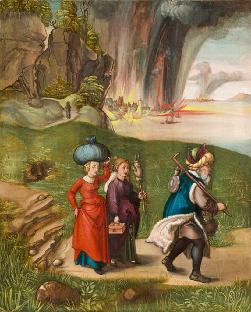 Detail of Lot and His Daughters by Albrecht Dürer or Duerer