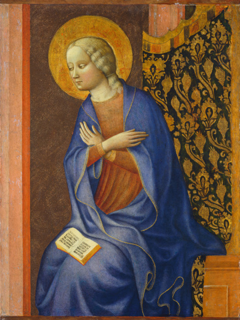 Detail of The Virgin Annunciate by Tommaso Masolino da Panicale
