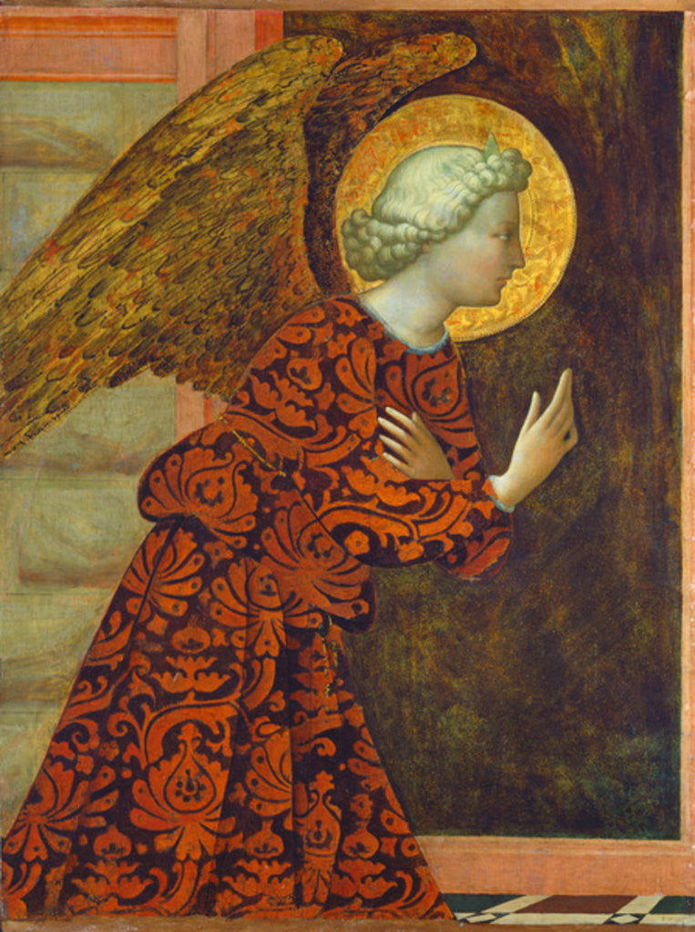 Detail of The Archangel Gabriel by Tommaso Masolino da Panicale
