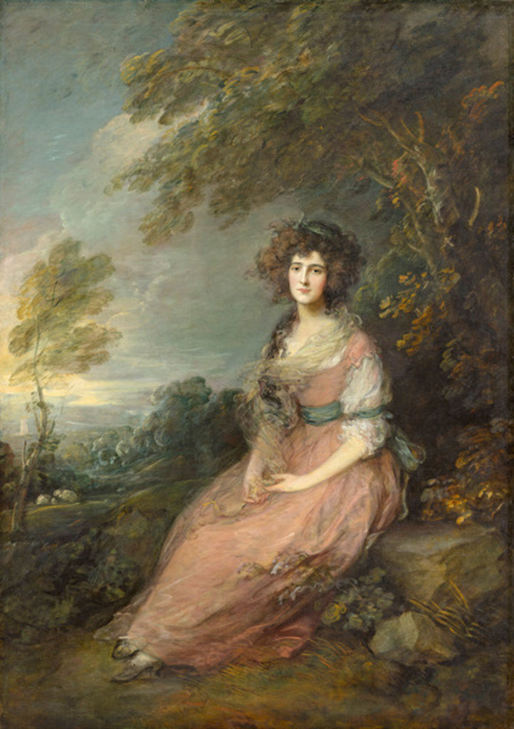 Detail of Mrs. Richard Brinsley Sheridan by Thomas Gainsborough