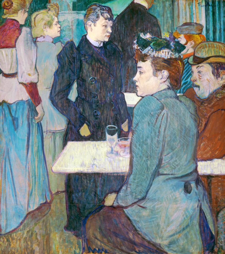 Detail of A Corner of the Moulin de la Galette by Henri de Toulouse-Lautrec