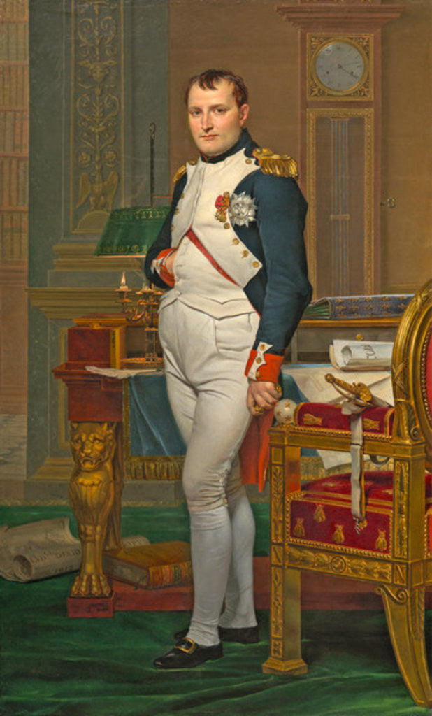 Detail of The Emperor Napoleon in His Study at the Tuileries by Jacques Louis David