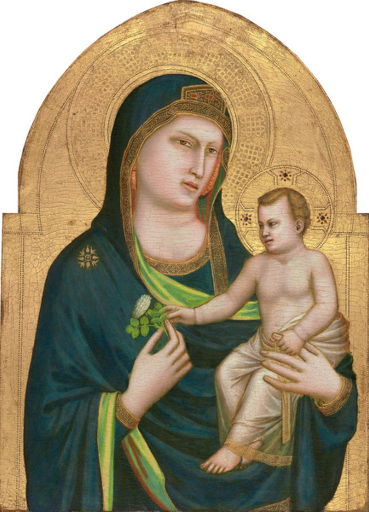 Detail of Madonna and Child by Giotto di Bondone