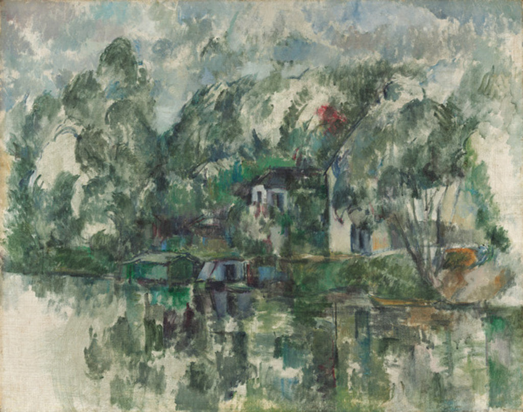 Detail of At the Water's Edge by Paul Cezanne