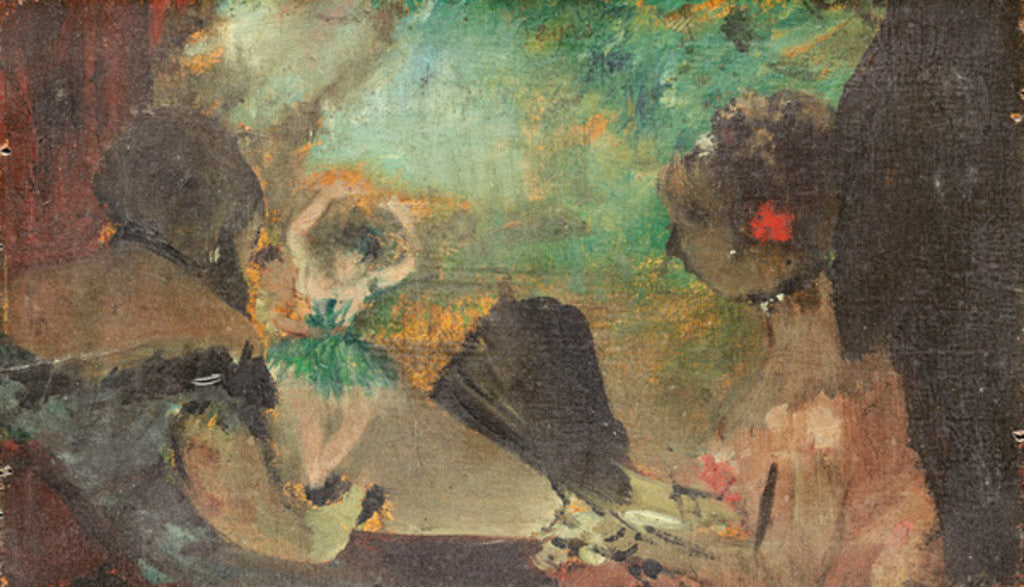 Detail of The Loge by Edgar Degas