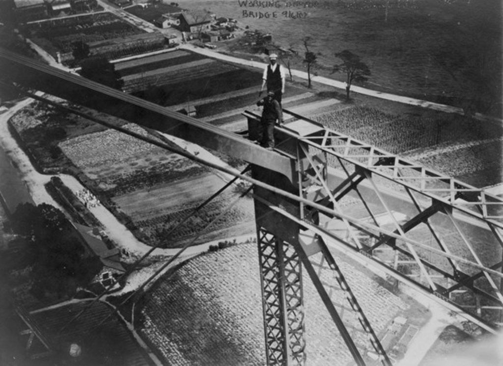 Detail of Working on top of Blackwell's Island bridge by American Photographer