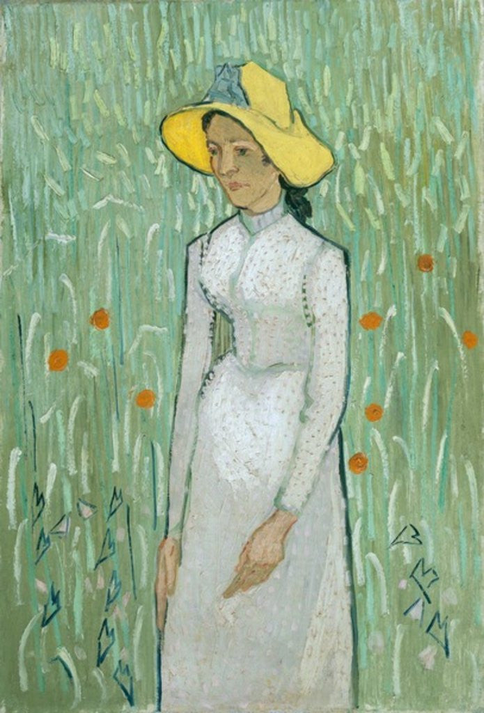 Detail of Girl in White by Vincent van Gogh