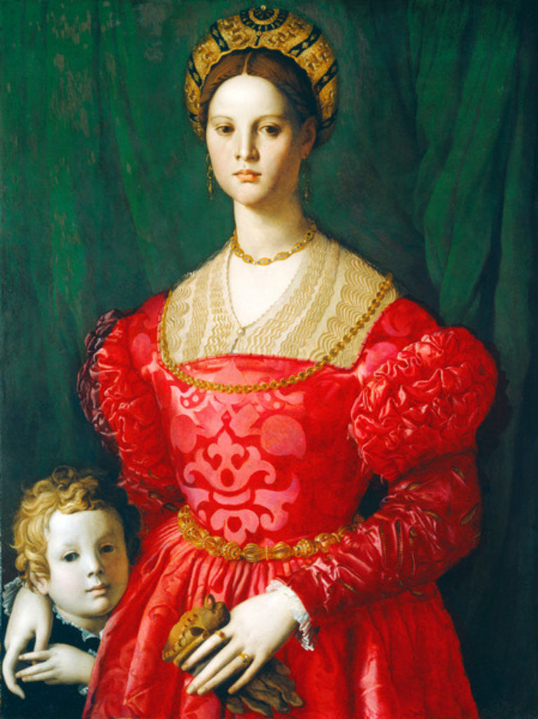 Detail of A Young Woman and Her Little Boy by Agnolo Bronzino