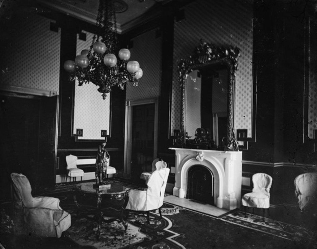 White House interior, Old Green Room, President's Study