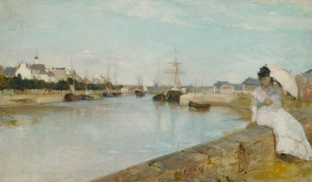 Detail of The Harbour at Lorient by Berthe Morisot