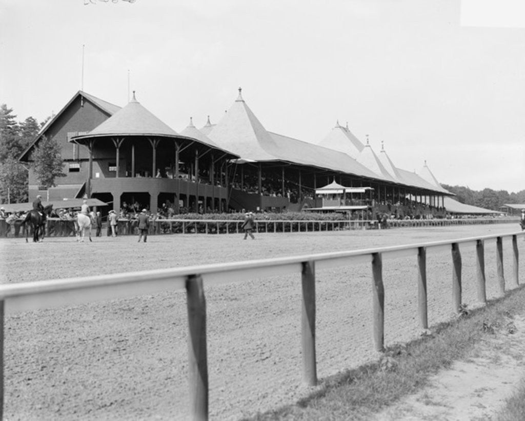 Saratoga Springs, N.Y., grand stand, race track