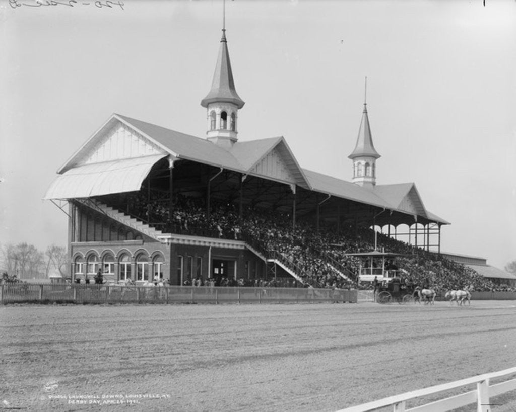 Detail of Churchill Downs, Louisville, Kentucky, Derby day by Detroit Publishing Co.