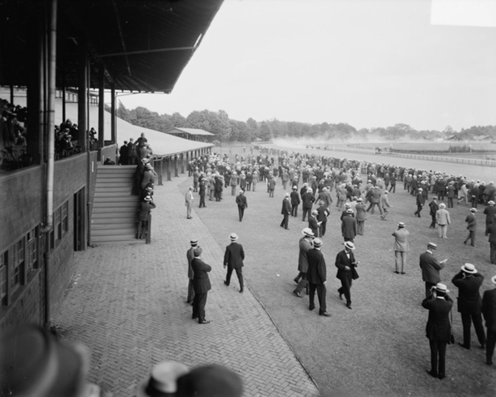 Detail of Saratoga race track, Saratoga Springs, N.Y. by Detroit Publishing Co.