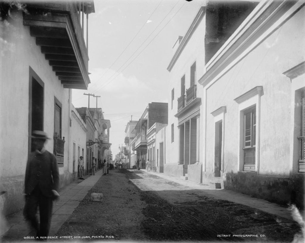 Detail of A Residence street, San Juan, Puerto Rico by Detroit Publishing Co.